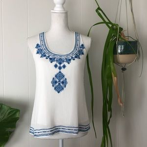 """Tops - THML """"Southgate"""" Embroidered Tank"""